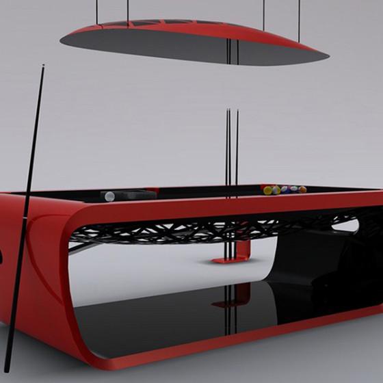 BILLARD BLACKLIGHT SCUDERIA Limited Edition rouge/noir