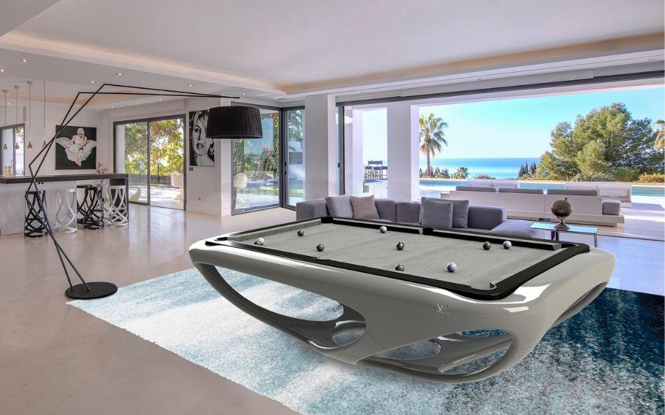 Billard table - Design - Billards Toulet - Whitelight - gris