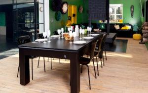 billard sur-mesure CL convertible en table noir