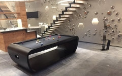 Collection de billards design noir sur mesure Billards Toulet