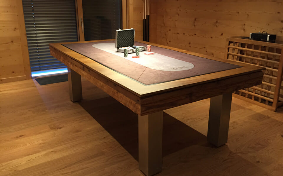 billard Megeve table poker bois billards toulet