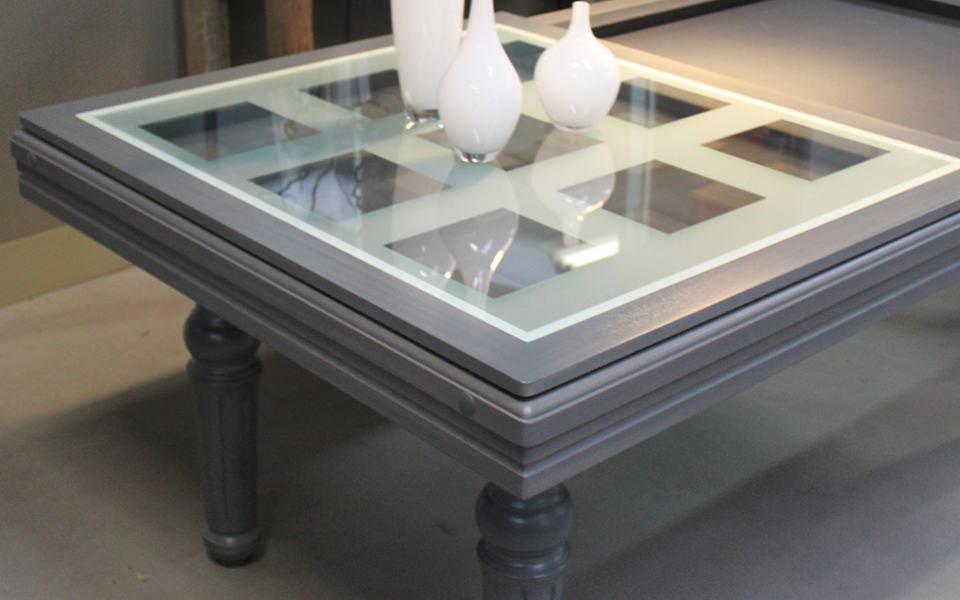 Billard table gris avec plateau verre Billards toulet