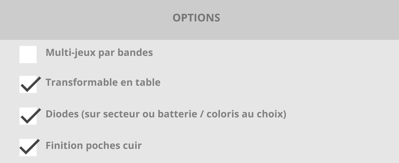 Billard Carat Light - Option table - Verre