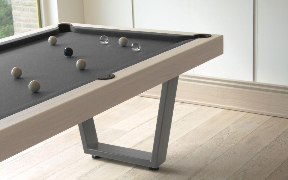 Table de billard personalise - industriel - bois - metal gris - Iron - Toulet