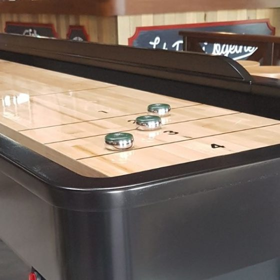 Table de shuffleboard marron Billards Toulet