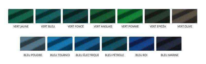Gamme de tapis de billard vert bleu tendances - Toulet