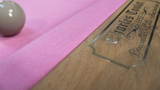 Rose Bubble Gum couleur originale tapis de billard - Billards Toulet