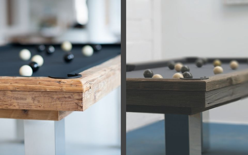 Table de billard en bois - Design Megève - Billards Toulet