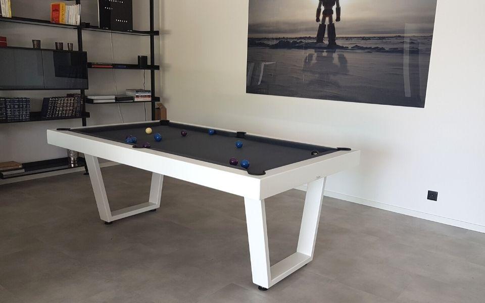 Table de billard moderne - Iron blanc - Billards Toulet