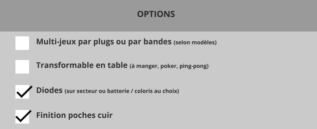 Options billard Lambert blackball billards toulet